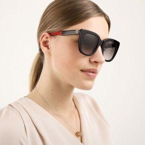 New SUNGLASSES GUCCI GG0163/S 003 Black Eyewear